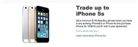 best buy iphone deal iphone 5s deal drops price to 1 at best buy with trade