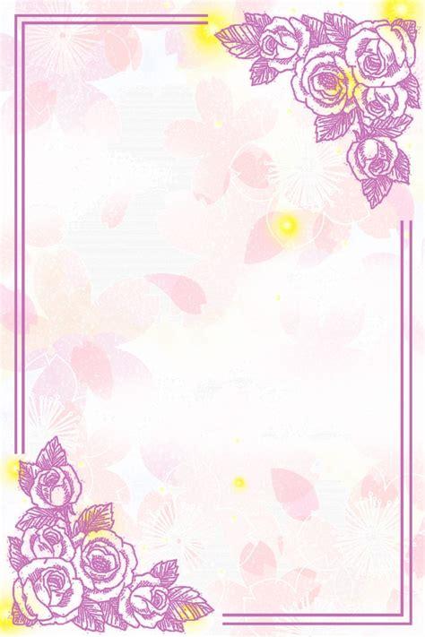 Small Fresh And Beautiful Flowers Wedding Invitation Card