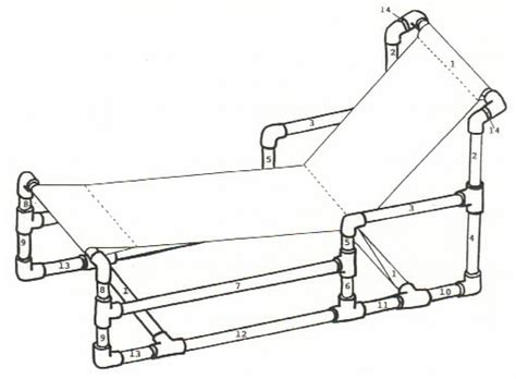 recycle pvc pipe furniture for chaise lounge chair plan