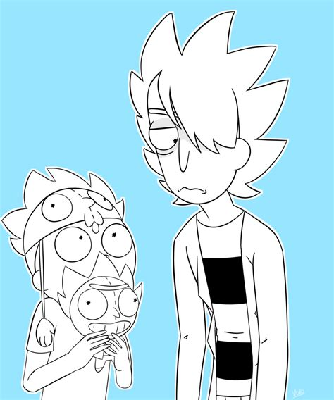 rick and morty fans zero rick and super rick fan morty by voroxzii on deviantart
