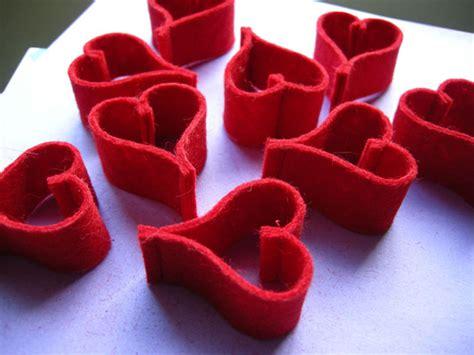 valentine heart chain felt ornament garland