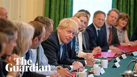 Boris Johnson chairs first cabinet as prime minister - YouTube