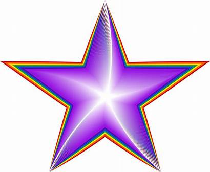 Star Rainbow Clipart Colorful Pixabay Cliparts Library