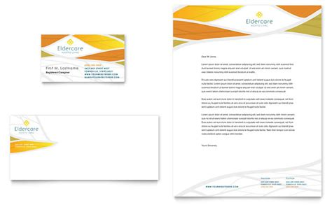Assisted Living Business Card & Letterhead Template Design