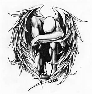 Black Angel Wings Drawing At Getdrawings