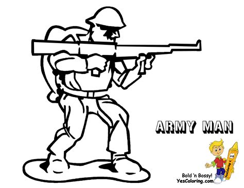 Fearless Army Coloring Toy Soldiers Army Free Navy