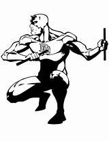 Daredevil Coloring Superheroes Printable Drawing Kb sketch template