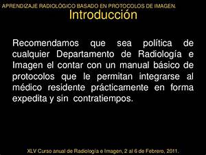 Aprendizaje Radiol U00f3gico Basado En Protocolos De Imagen