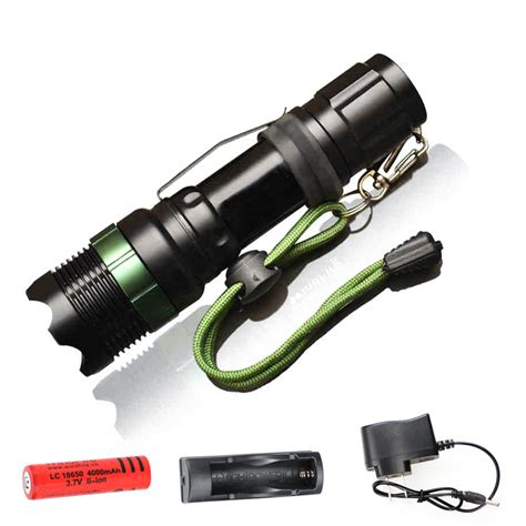 flashlight cree  xm   lm lumens led torch zoomable zaklamp cree led torch light