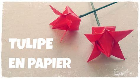 Comment Faire Des Origamis Origami Facile Comment Faire Une Tulipe En Papier