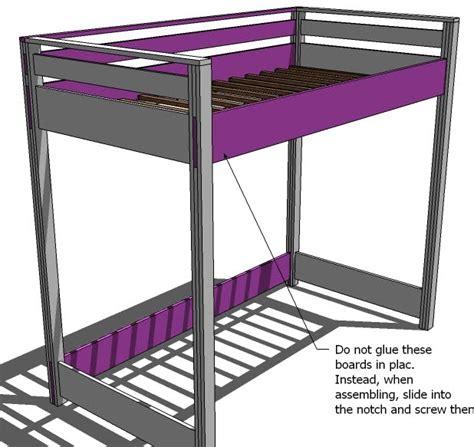 Size Loft Bed Plans by Pdf Plans Size Loft Bed Plans Free Diy Free