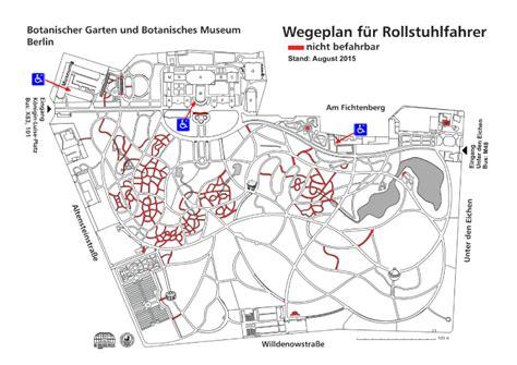 Botanischer Garten Berlin Barrierefrei by Hinweise F 252 R Behinderte Bgbm