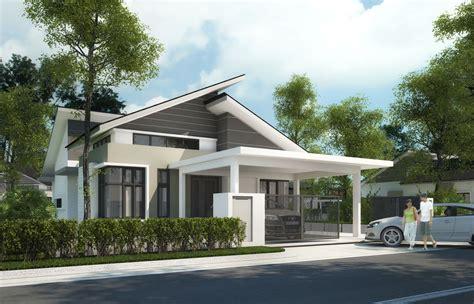 Single Story Bungalow House Plans Malaysia