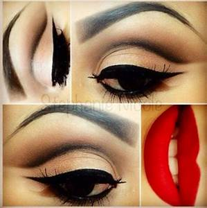 Pin up makeup- I love this look | Beauty | Pinterest