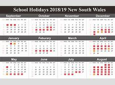 Free 2019 NSW New South Wales School Holidays Calendar