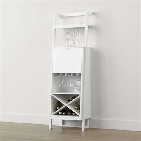 Sawyer White Leaning Wine Bar   Reviews   Crate and Barrel