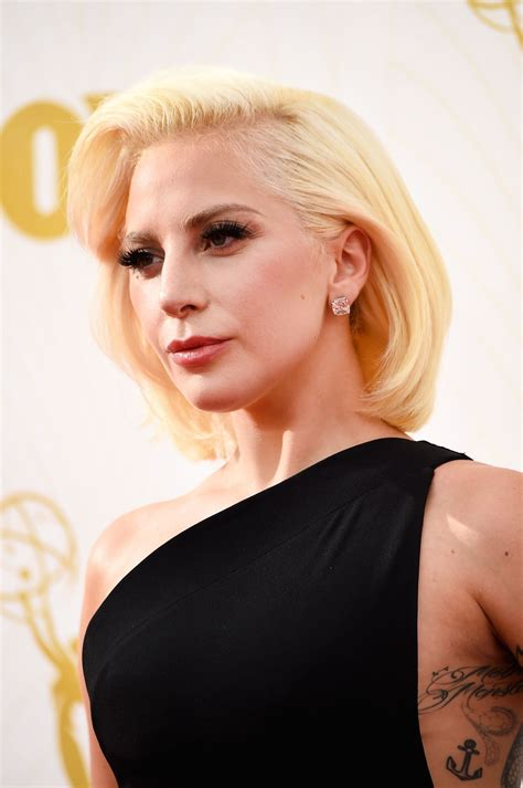 Lady Gaga on Red Carpet – 2015 Primetime Emmy Awards in ...