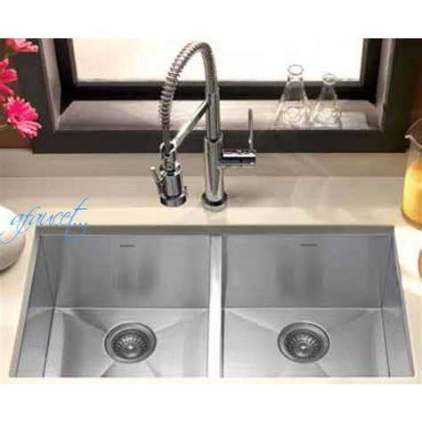 zero radius undermount sink 29 inch stainless steel undermount 50 50 double bowl