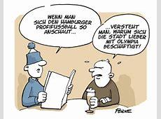 Fussball in Hamburg von FEICKE Sport Cartoon TOONPOOL