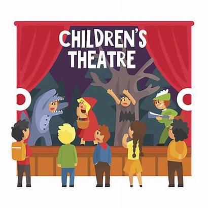 Acting Scene Illustration Vector Clip Illustrations Child