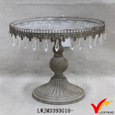shabby chic cake stand with crystals shabby chic metal cake stand with hanging crystals buy cake stand with hanging crystals