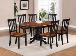 OVAL DINETTE KITCHEN DINING SET TABLE W 4 WOOD SEAT CHAIRS IN BLACK Kitchen Tables And Chairs For Small Spaces Protractible Wooden Dining Table Ideas For Small Spaces Stylish Eve Fancy Glass Top Table Kitchen Tables And Chairs Small Chandelier