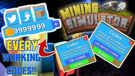 Mining simulator codes list