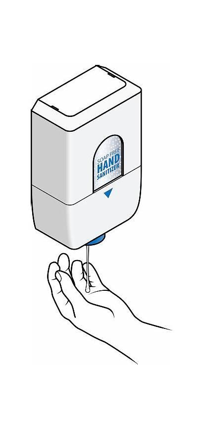 Sanitizer Hand Automatic Vector Dispenser Illustration Clip