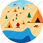 Icon Camp Activities Campfire Icons Camping Tent