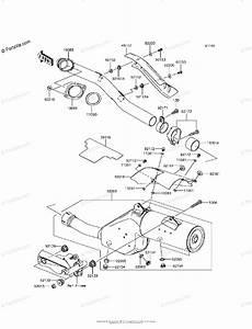 Kawasaki Motorcycle 2017 Oem Parts Diagram For Muffler S