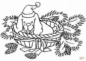 Christmas Dog coloring page   Free Printable Coloring Pages