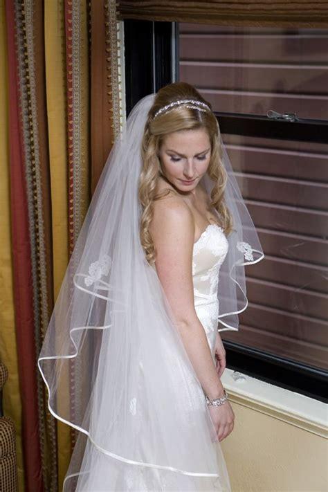 wedding hair    headband  veil wedding