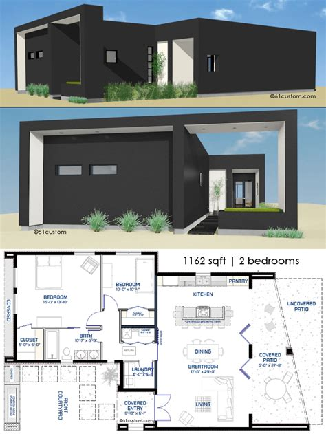 modern design house plans small front courtyard house plan 61custom modern house