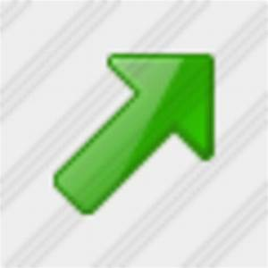 Icon Arrow Right Up Green | Free Images at Clker.com ...