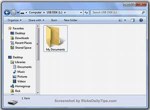 How to move the 39my documents39 folder to a usb flash drive for My documents folder on desktop