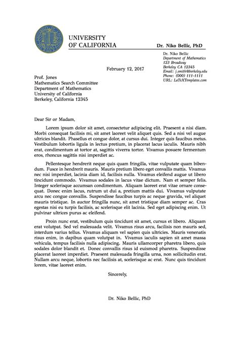 Professional Letter Template Templates 187 Professional Formal Letter