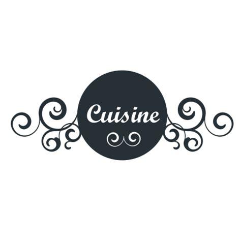 sticker enseigne cuisine avec arabesques de murs et portes