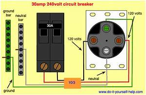 Wiring Diagram For A New Code Compliant 30 Amp  240 Volt Circuit Breaker In 2019