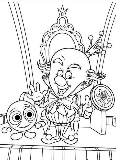 wicked clown pages coloring pages