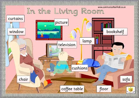 is livingroom one word english through games my bedroom vocabulary