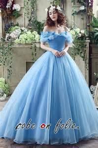 robe de mariã e cendrillon robeenfolie robe de mariée bleue disney cendrillon en satin et organza style princesse rm25