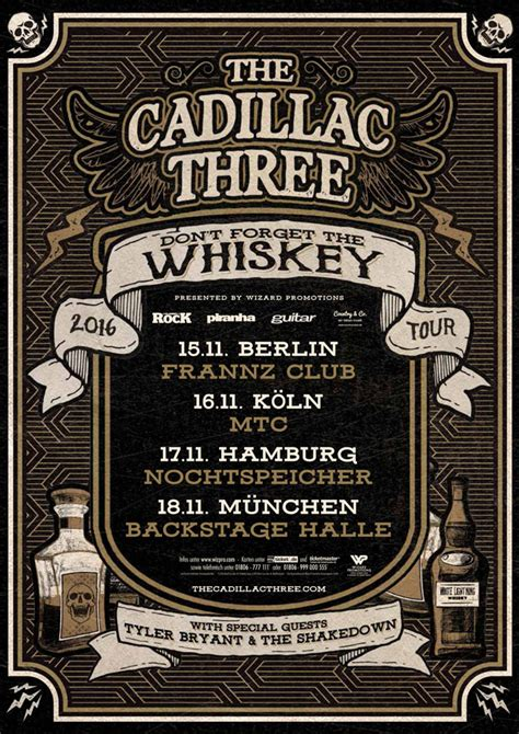 cadillac  dont forget  whiskey