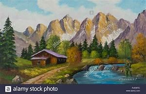 Haus In Den Bergen Kaufen : malen mit lfarben aus einem haus in den bergen neben einem gebirgsbach stockfoto bild ~ Frokenaadalensverden.com Haus und Dekorationen