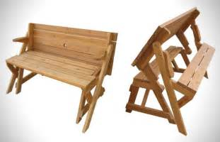 folding bench and picnic table combo free plans discover woodworking projects