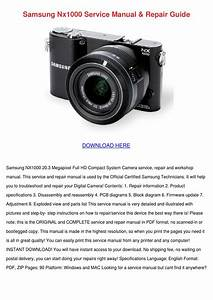 Samsung Nx1000 Service Manual Repair Guide By Floraeason