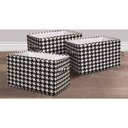 houndstooth fabric covered collapsible box blackwhite  piece set walmartcom