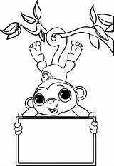 Monkey Coloring Sock Monkeys Valentine Printable Socks Zoo Nativity Hop Colouring Sheet Drawing Getcolorings Simple Scene Kanye West Getdrawings Dyed sketch template