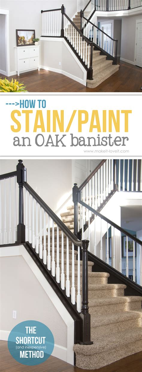 Kitchen Paint Ideas White Cabinets - how to stain paint an oak banister the shortcut method no sanding needed make it and love it