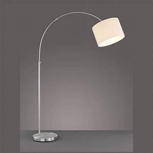 Lampe Mit Stoffschirm : leuchte f rs wohnzimmer mit stoffschirm weiss ~ Indierocktalk.com Haus und Dekorationen