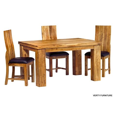 Acacia Dining Table - Small with 4 Chairs - Verty Indian ...